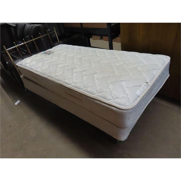 Single Bed w Mattress & Boxpsring - Seally Posturpedic