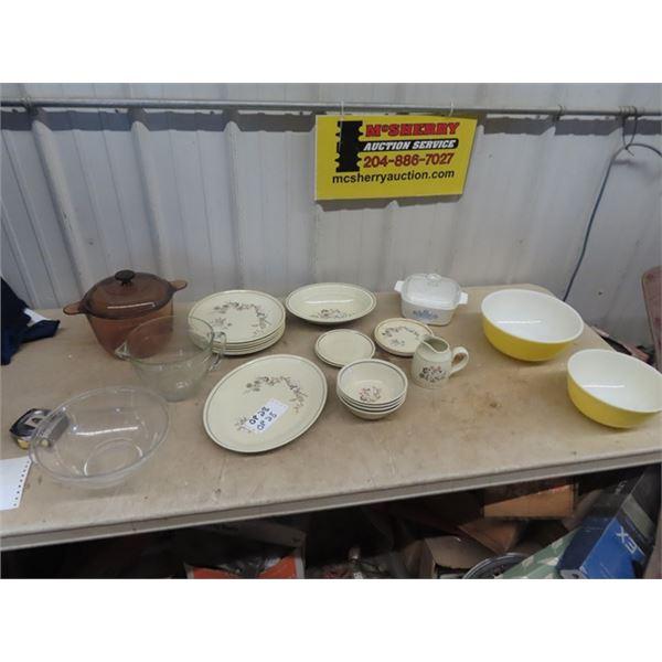 Pyrex Mixing Bowls, Royal Doulton Place Setting Plus More!