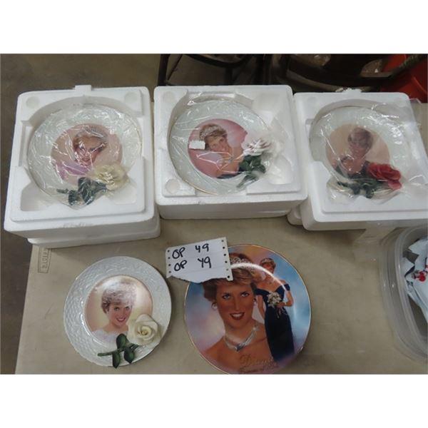 5 Collectors Plates - Princess Diana