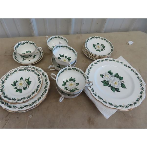 """Approx 26 Pc  Royal Albert """"Lady Clare""""- Signed Place Setting (Not Complete) 5 Dinner Plates, 2 Sau"""