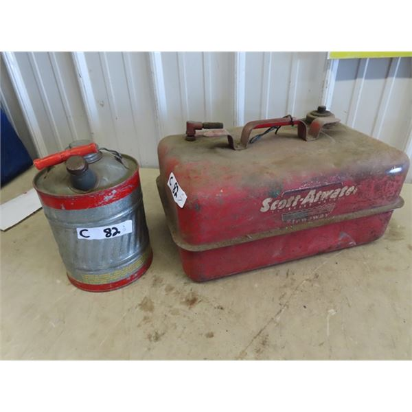 Scott Atwater Marine Gas Tank, & Galv Gas Can
