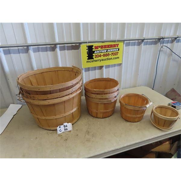 8 Bushel Baskets- Various Sizes