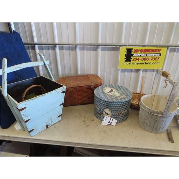 Wood Planter , Picnic Basket Plus More!