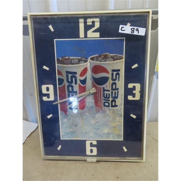 """Pepsi Clock 17"""" x 24"""""""
