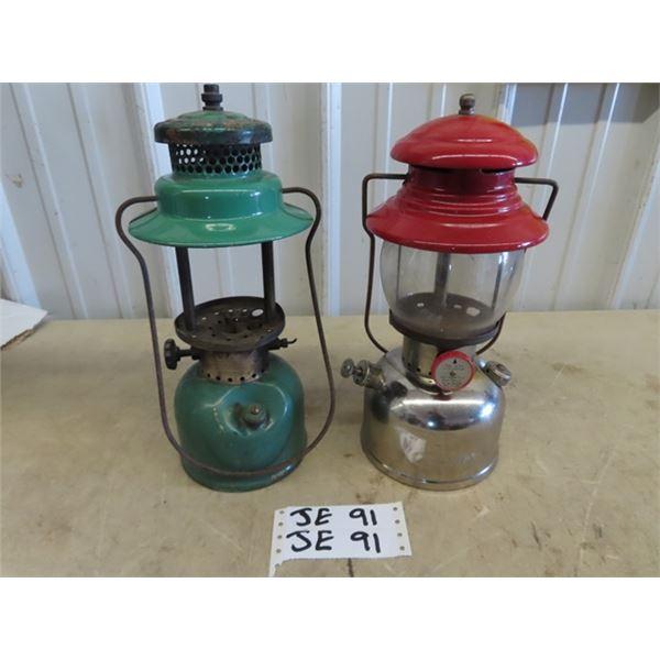 2 Coleman Lanterns 1) 200 No T-66 Red w Box 1) 242 B