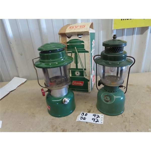 2 Coleman Lanterns 1) 335 1) 242 B