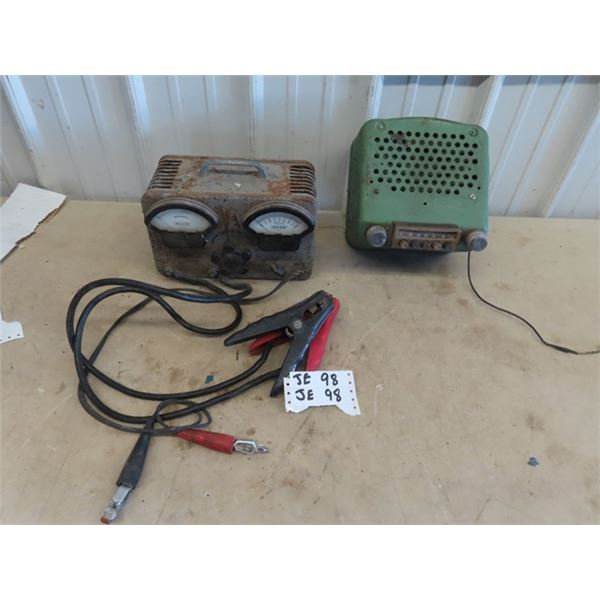 Early Allen Booster Charger, & 30's Chev Radio