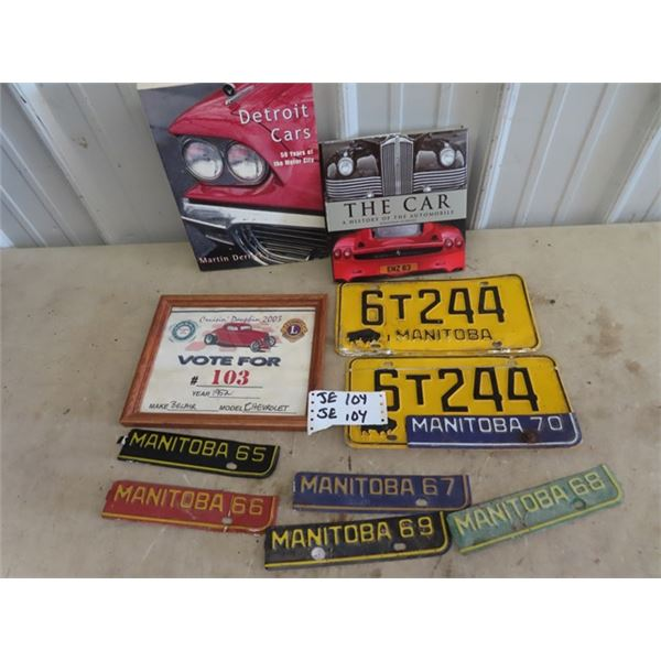 License Plate Tags & Plates , Car Books, Car Entry Certificate