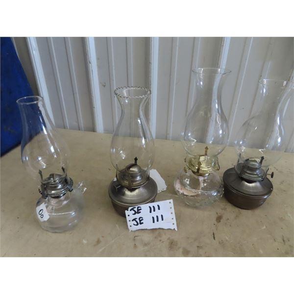4 Coal Oil Lamps