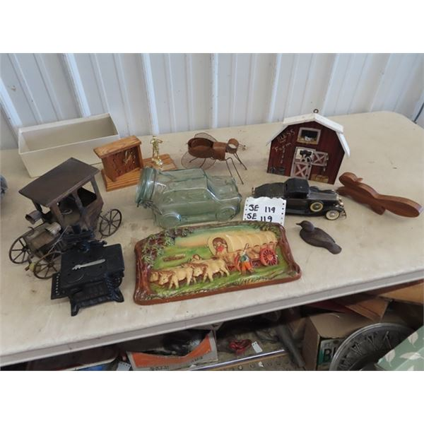 Queen Bee Ornament -  Cast Toy Stove, Car Radio, Pioneer Chalkware, Plus More!