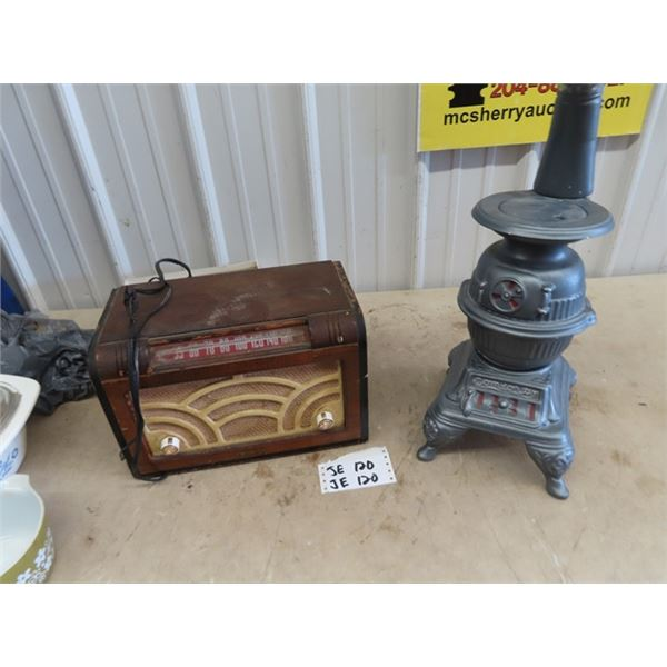 Baycrest Radio, & Ceramic Wood Heater Ornament