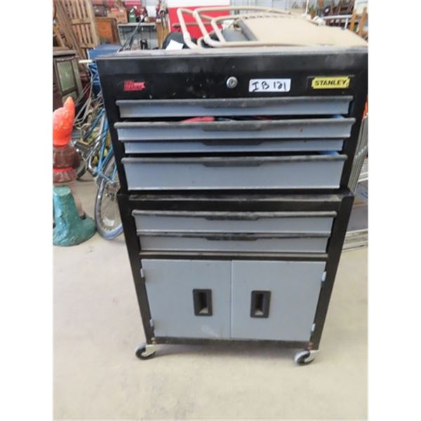 Metal Tool Cabinet - 2 Pcs w Tools- Sockets, Pliers, Cutters, Screwdrivers, Hammers, Plus More!