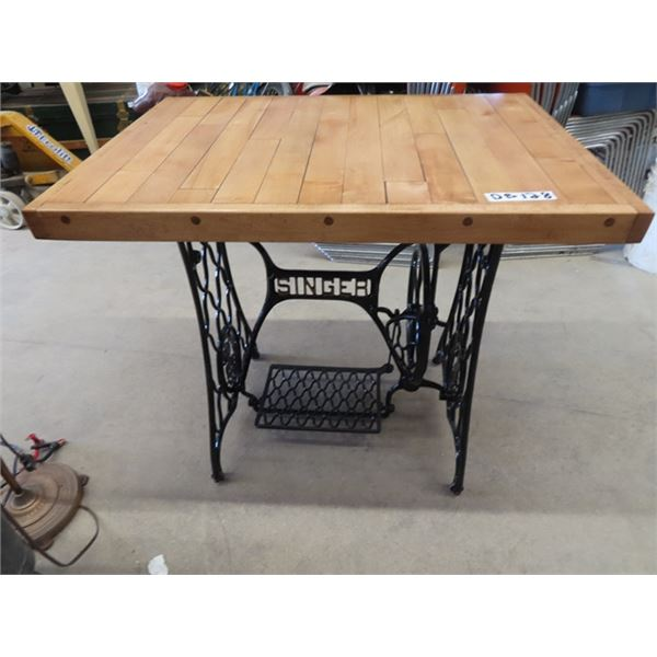 """Cast Sewing Base Table/Stand 30""""H 32"""" x 23"""""""