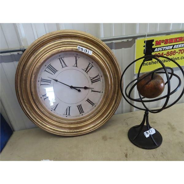 Clock & Modern Art Ornament