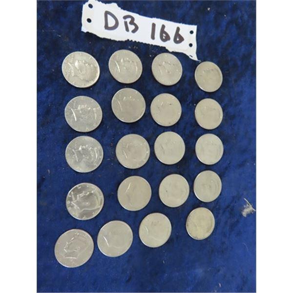 Approx 20 - 1971- 2000 USA 1/2 Dollar Coins