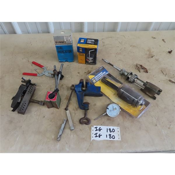 (IG) Dial Indicator, Magnetic Base, Specialty Tools, Holner, Tailpipe Reamer Plus More!