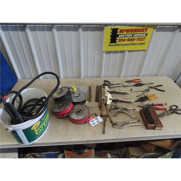 (IG) Welding Vice Grips, Tin Snips, Calipers, Wiring, Letter Punch Set, Plus More!