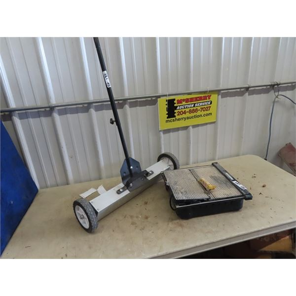 Power Tile Saw & Rolling Magnet