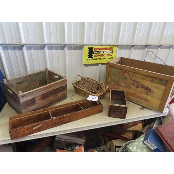 Wood Crates, Wood Orangizer Baskets Plus !