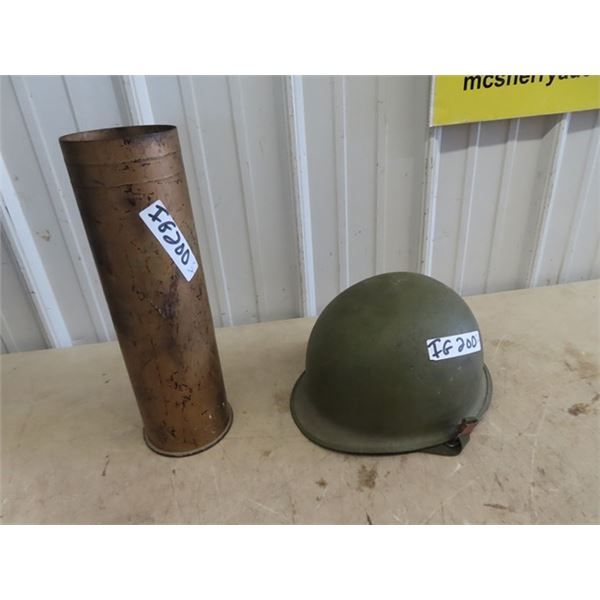 (IG) Military Helmet & Large Ammo Casing