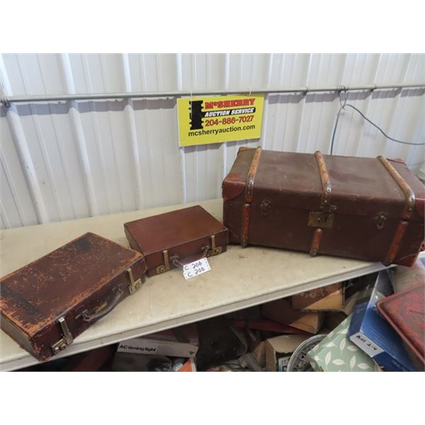 Old Leather Suitcase & Briefcases