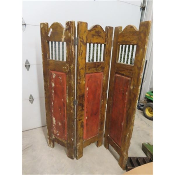 """Wood Painted Room Divider- 72"""" H 60""""W"""