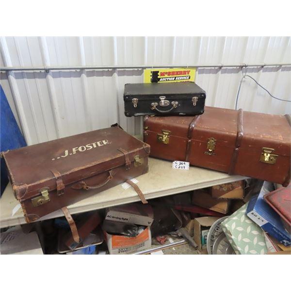Leather Suitcase & Briefcase