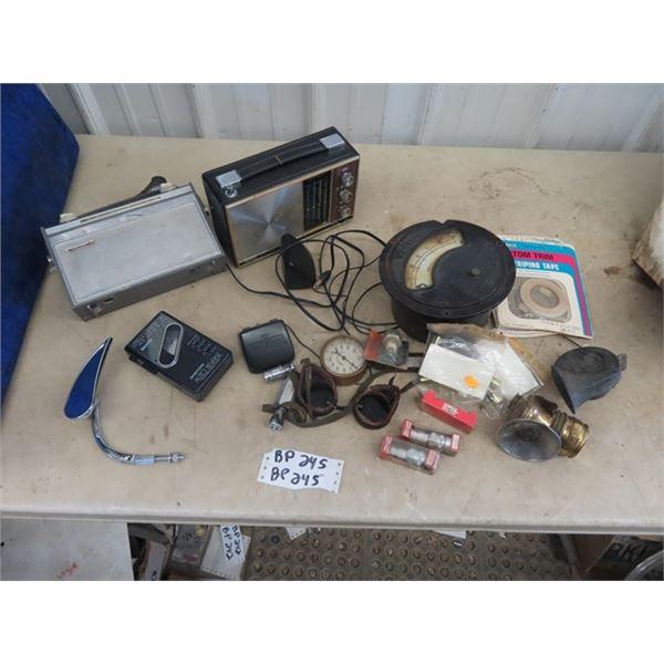 Teardrop Bicycle Mirror, Radio, Western Volt Gauge Compression Tester, Plus More!