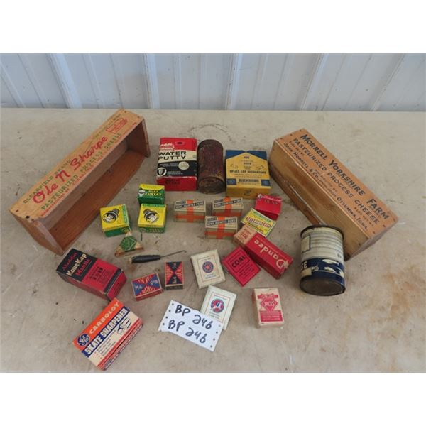 Store Product , Bowl Pointed Pens, Aladdin Mantle Grease Tin Plus More!