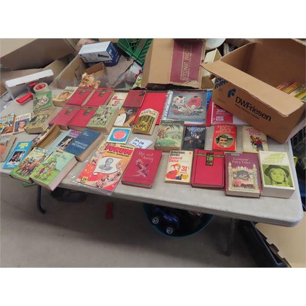 Old Books- Tom Sawyer, Treasure Island, Montreal Forum Magazine 25 Cents, Hockey Plus