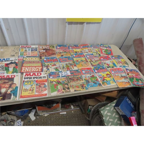 Approx 24 Archie Comics, MAD Comics Plus!