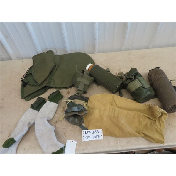 Military Canteens, Gas Mask, Socks w Pouch, Plus More!