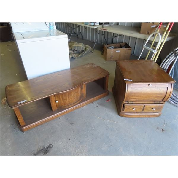 """Coffee & End Table 16""""H 55"""" W 21"""" D & 22""""H 23""""W 26""""D"""