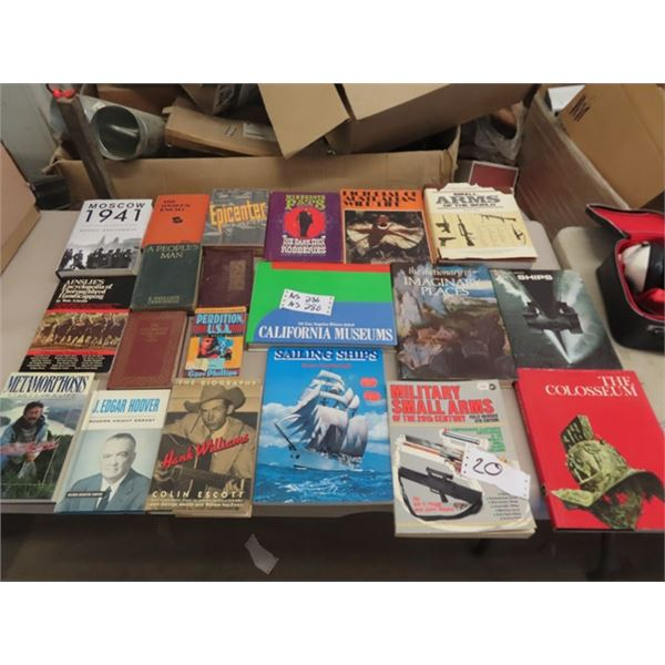Military Books, Sailing, Hank Williams Plus More!