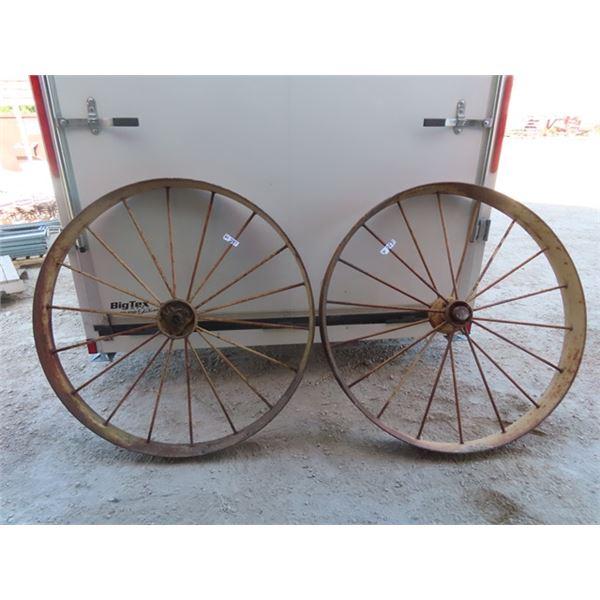 """Set of 2 Steel Wheels 48"""" RD"""