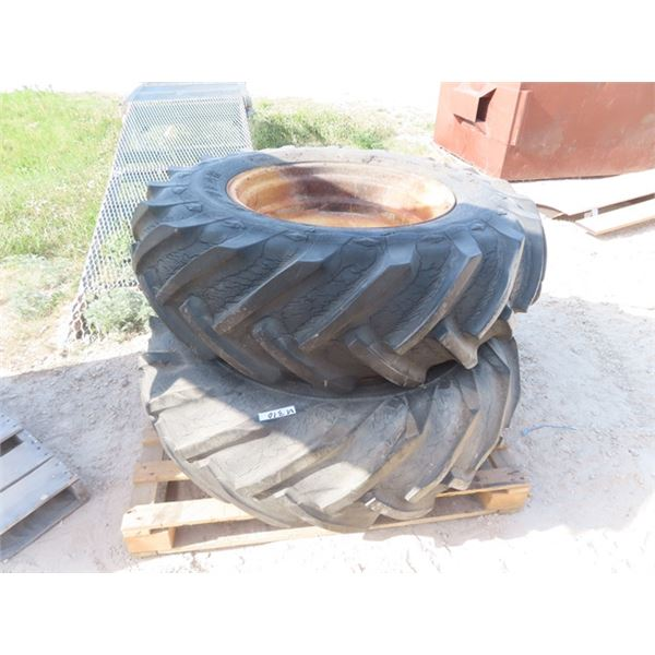 Set of 2 - 13-26 Tractor Tires & Rims