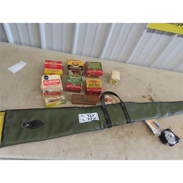 Old Shotgun Ammo Boxes- No Ammo, Bird Call, Turkey Call, & Gun Case