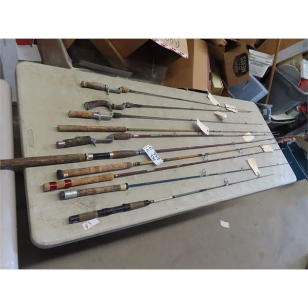 Approx 10 Vintage Fishing Rods