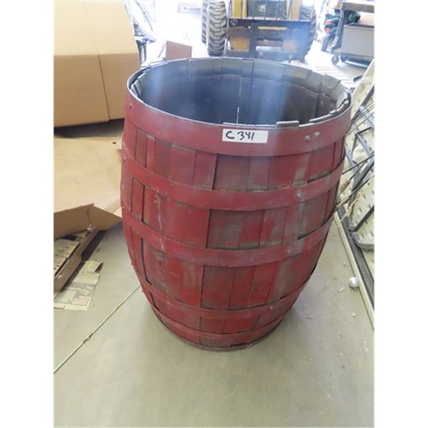 45 Gal Wooden Barrel