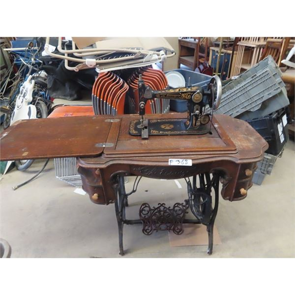 (F) Eldridge Treadle Sewing Machine