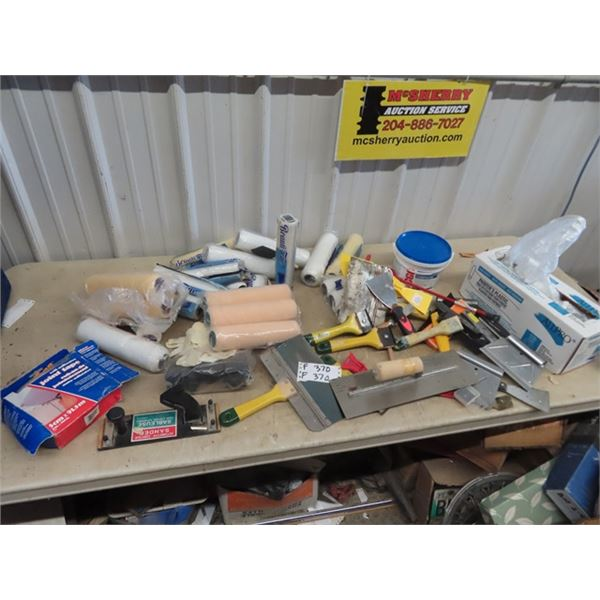 (F) Painting Supply - Rollers, Scrapers, Drywall Compound, Sander , Brushes, Plus More!