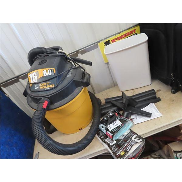 (F) Dirt Hound 6 HP 16 Gal Shop Vac w Accessories