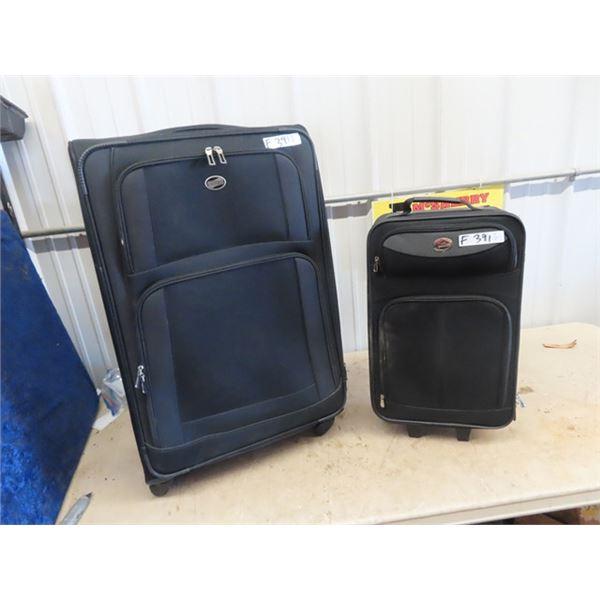 (F) 2 Pc Luggage 1) American Tourist 1) Jet Stream