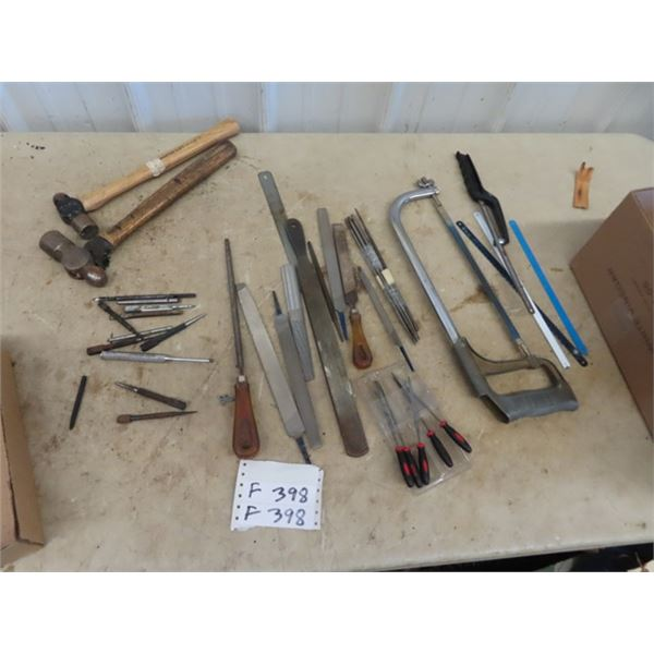 (F) Ball Peine Hammer, Punches, Hack Saw FIles Plus!