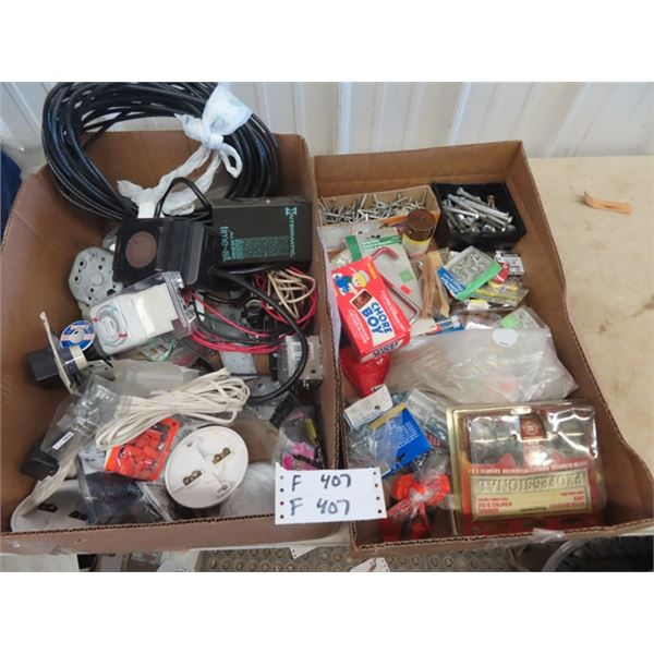 (F) Electrical Supply, Timers, Wire Boxes, Hardware- Screws, Nails, Door Hardware Plus