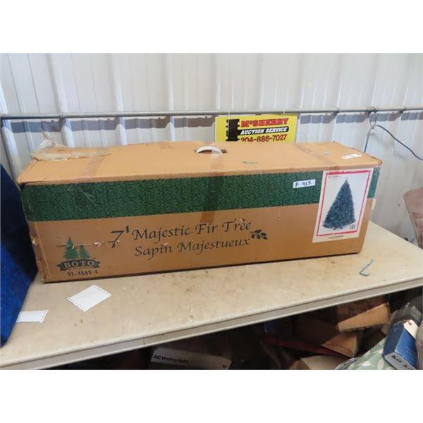 (F) 7' Majestic Fir Artificial Christmas Tree