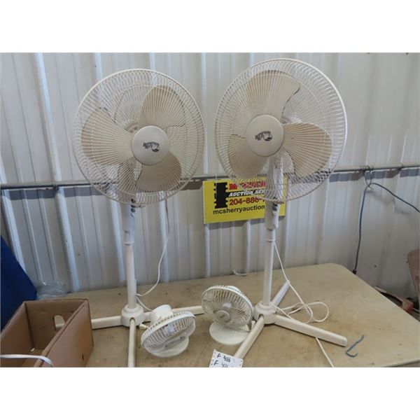 (F) 4 Fan - 2 Are On Stand & Variable Speed