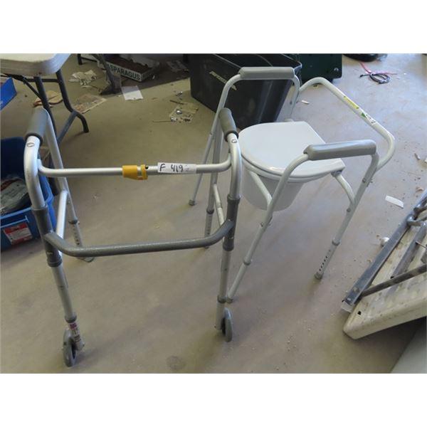 (F) Walker & Potty Chair