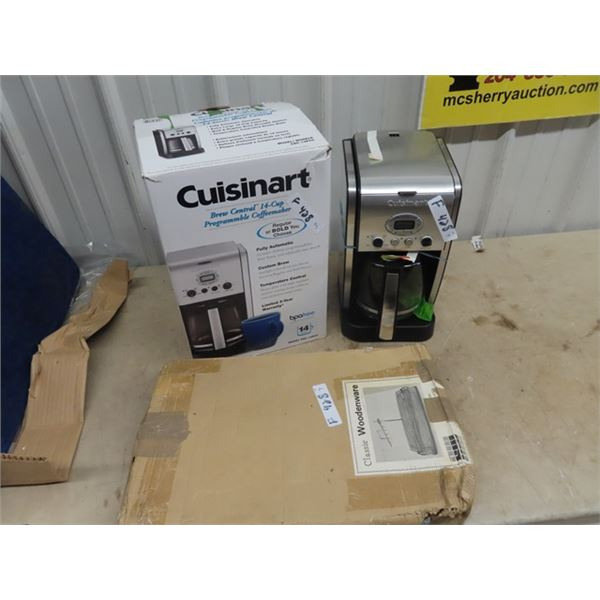 (F) 2 New Cuisinart Coffee Machines & Carving Board