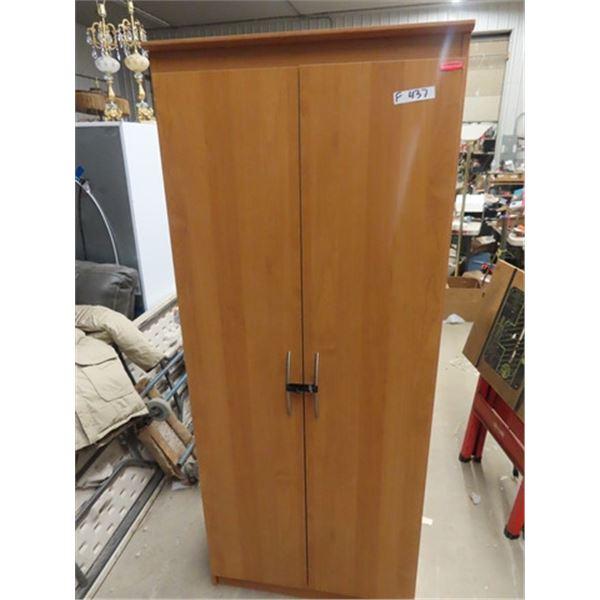"(F) Cabinet 2 Door w Shelving Inside 72"" 30"" 16"""